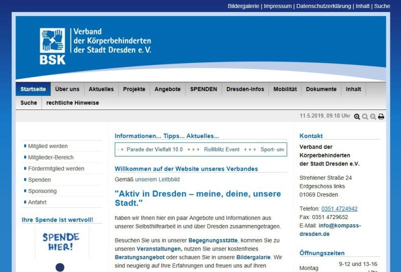 Bild und Link Verband der Körperbehinderten der Stadt Dresden e.V.