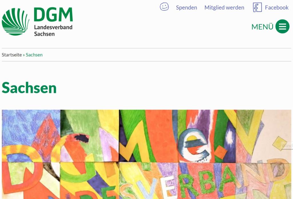 Logo und Link DGM Sachsen
